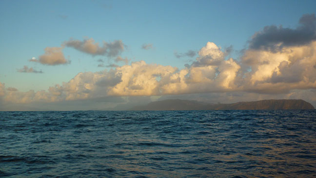 Land Ho, Hiva Oa Appears with Day Break