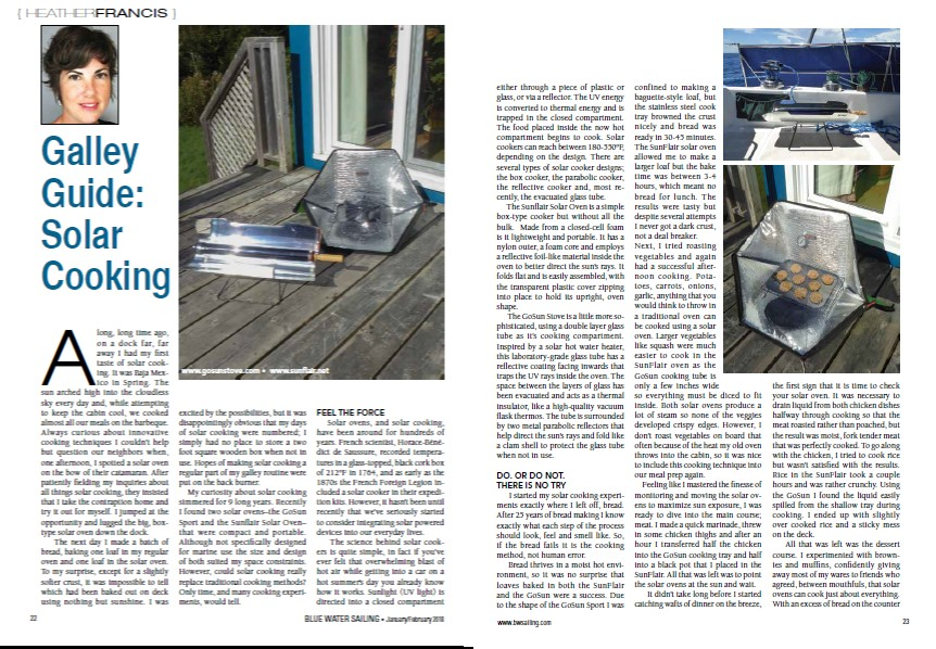 Galley Guide; Solar Cooking, Heather Francis