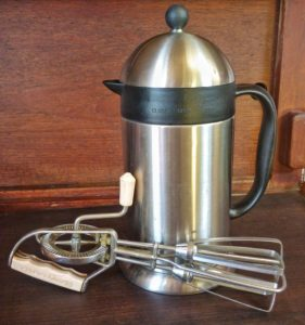 Coffee Press and Hand Mixer