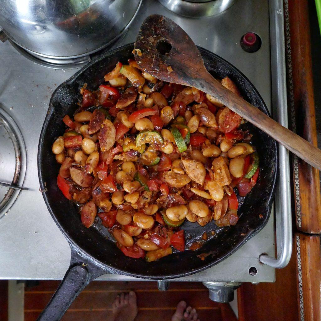 Sausage & Butter Bean Skillet
