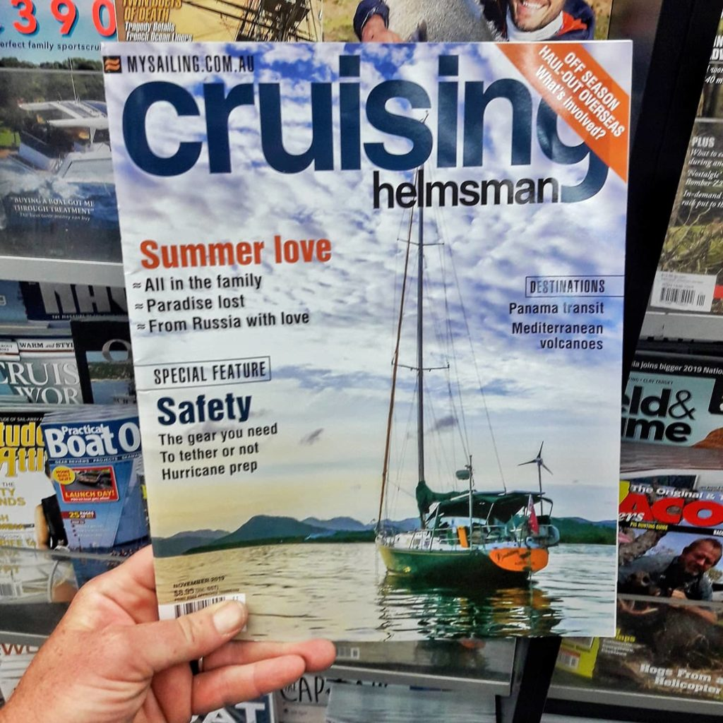 S/Y Kate the Cover of Cruising Helmsman